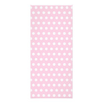 Pink and White Polka Dot Pattern. Spotty. Rack Card