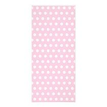 Pink and White Polka Dot Pattern. Spotty. Rack Card