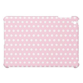 Pink and White Polka Dot Pern. Spotty. iPad Mini Cover