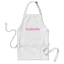 Pink and White Polka Dot Personalized Adult Apron