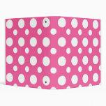 Pink And White Polka Dot School Notebook Vinyl Binders