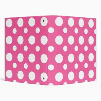 Pink And White Polka Dot School Notebook Binder