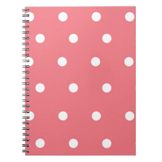 Pink and White Polka Dot Spiral Notebook
