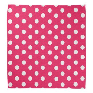 Pink And White Polka Dots Bandannas