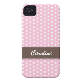Pink and white polka dots BlackBerry Bold case