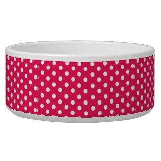 Pink And White Polka Dots Bowl