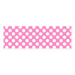 Pink and White Polka Dots Business Cards
