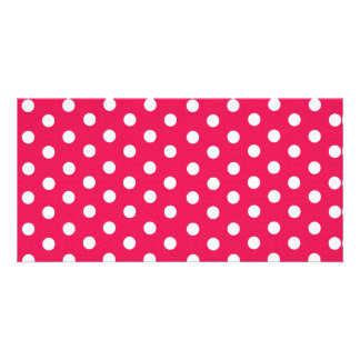 Pink And White Polka Dots Card