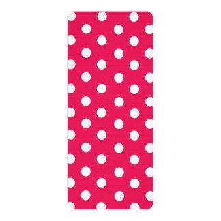 Pink And White Polka Dots Card