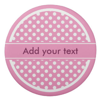 Pink and White Polka Dots Eraser