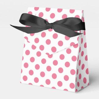 Pink and white polka dots favor box
