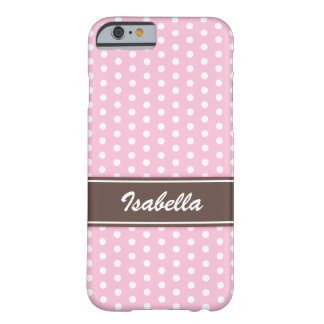 Pink and white polka dots iPhone 6 case