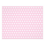 """Pink and White Polka Dots Pattern. 4.5"""" X 5.6"""" Flyer"""
