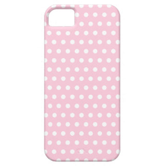 Pink and White Polka Dots Pattern iPhone 5 Cases