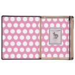 Pink and White Polka Dots Pattern Cases For iPad