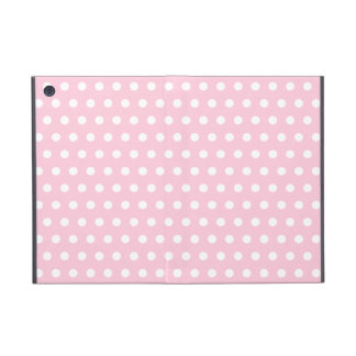 Pink and White Polka Dots Pattern. Cover For iPad Mini