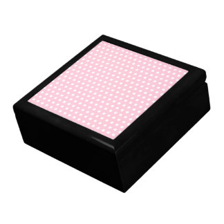 Pink and White Polka Dots Pattern. Gift Box