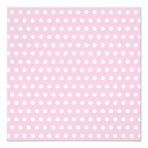 Pink and White Polka Dots Pattern. Invitation