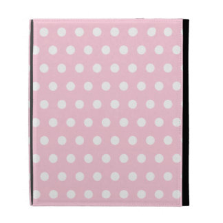 Pink and White Polka Dots Pattern. iPad Folio Cover