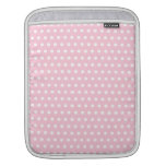 Pink and White Polka Dots Pattern. Sleeves For iPads