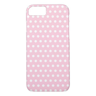 Pink and White Polka Dots Pattern. iPhone 8/7 Case