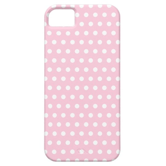 Pink and White Polka Dots Pattern. iPhone SE/5/5s Case