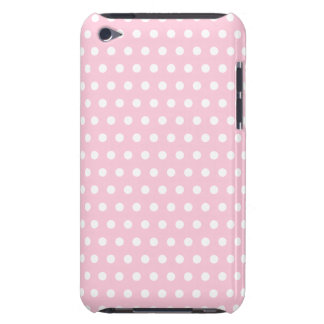 Pink and White Polka Dots Pattern. iPod Touch Case
