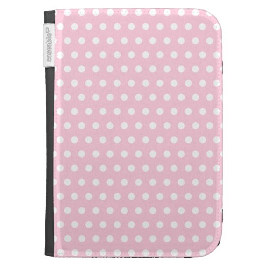 Pink and White Polka Dots Pattern. Kindle 3 Covers
