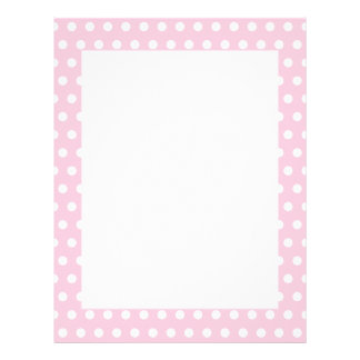 Pink and White Polka Dots Pattern. Letterhead