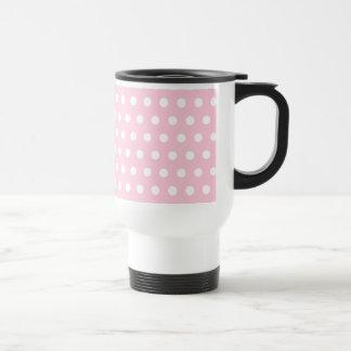Pink and White Polka Dots Pattern. Coffee Mugs