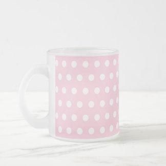 Pink and White Polka Dots Pattern. Coffee Mug