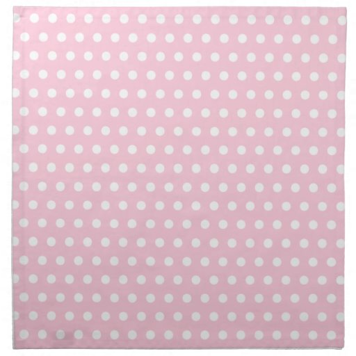 Pink and White Polka Dots Pattern. Napkin