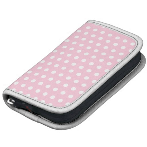Pink and White Polka Dots Pattern. Organizer