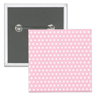 Pink and White Polka Dots Pattern. Pinback Button