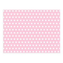 Pink and White Polka Dots Pattern. Postcard