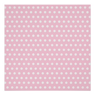 Pink and White Polka Dots Pattern. Posters