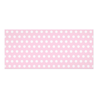 Pink and White Polka Dots Pattern. Full Color Rack Card