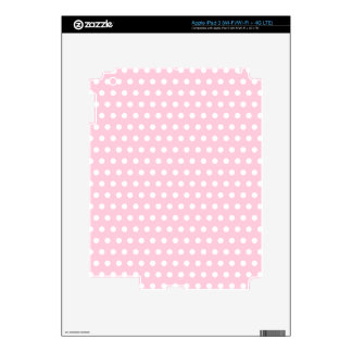 Pink and White Polka Dots Pattern Skins For iPad 3