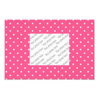Pink and white polka dots photo