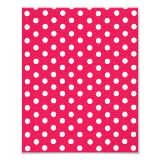 Pink And White Polka Dots Art Photo