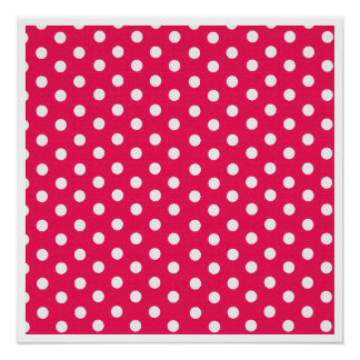 Pink And White Polka Dots Poster