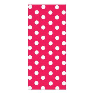 Pink And White Polka Dots Rack Card