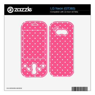 Pink and white polka dots skin for LG neon
