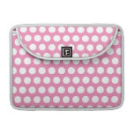 Pink and White Polka Dots Sleeves For MacBooks