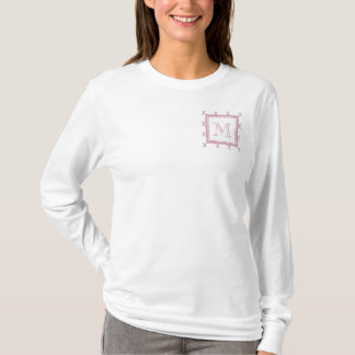 Pink and White Quatrefoil | Your Monogram T-Shirt