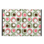 Pink and White Retro Squares and Circles iPad Air Case