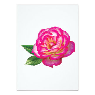 Pink and White Rose 5x7 Paper Invitation Card