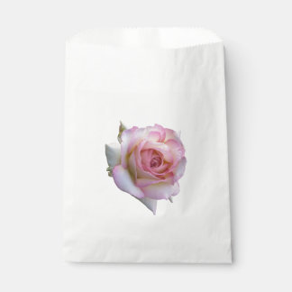 Pink and white rose bag favor bags