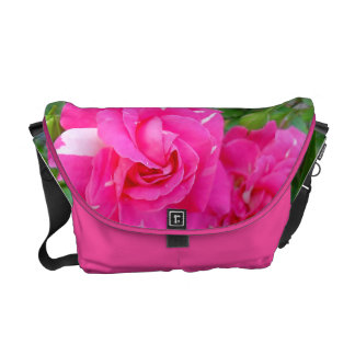 Pink and White Rose Courier Bags