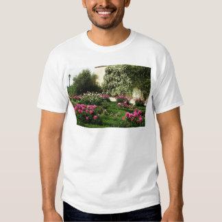 Pink and White Rose Garden Shirt